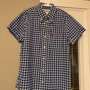 Boys Abercrombie short-sleeved button down
